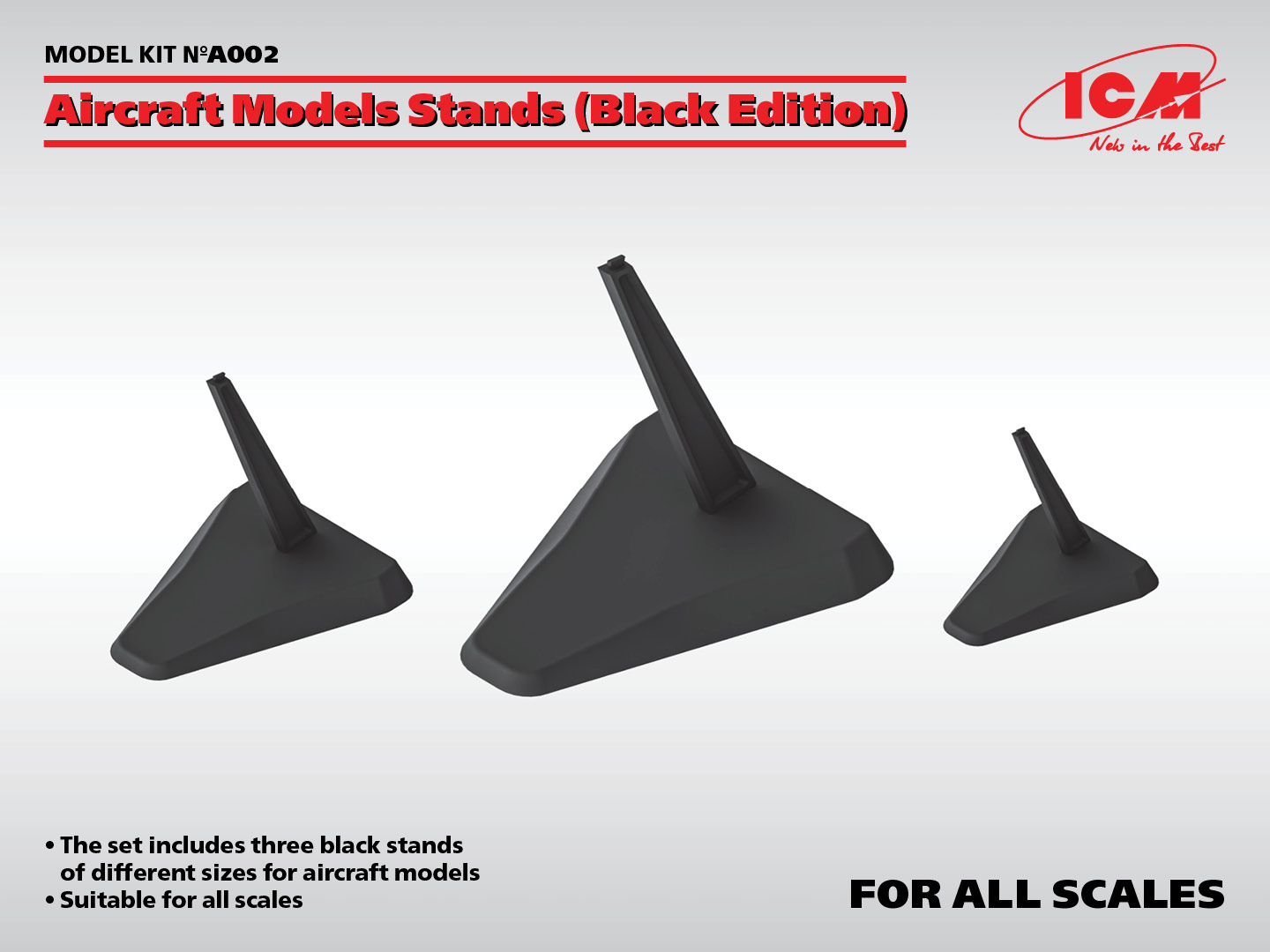 ICM Aircraft Models Stands (Black Edition)