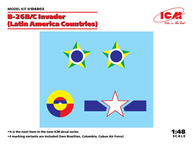 ICM B-26B/C Invader (Latin America Countries) 1/48 Scale