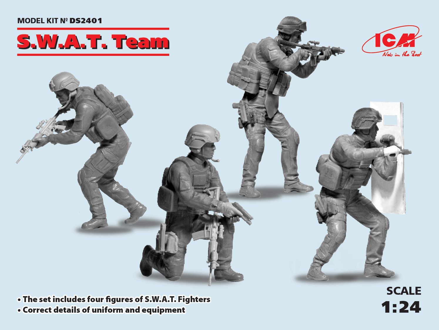 ICM 1/24 S.W.A.T. Team (4 figures)