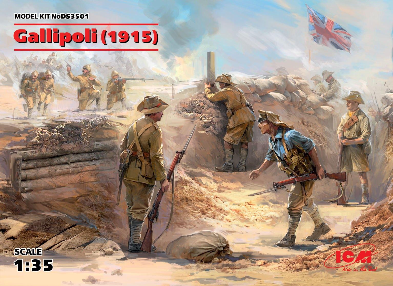 ICM Gallipoli (1915)   (ANZAC Infantry (4 figures), Turkish Infantry (4 figures))
