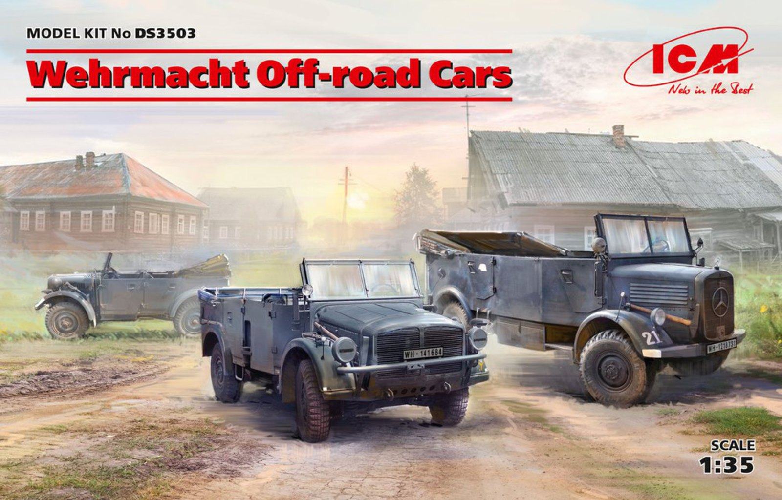 ICM Wehrmacht Off-road Cars   (Kfz.1, Horch 108 Typ 40, L1500A)