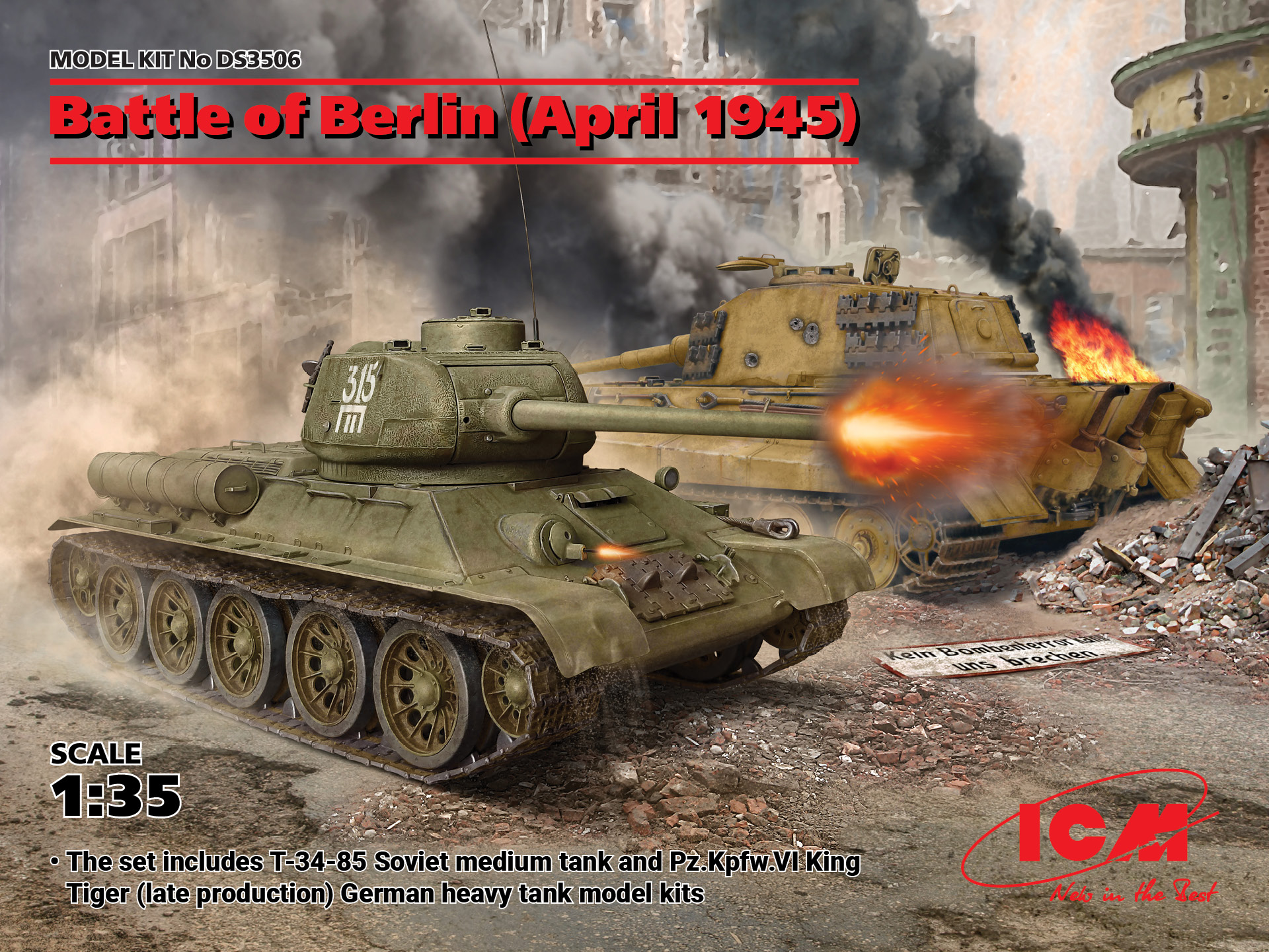 ICM Battle of Berlin (April 1945) (T-34-85, King Tiger)