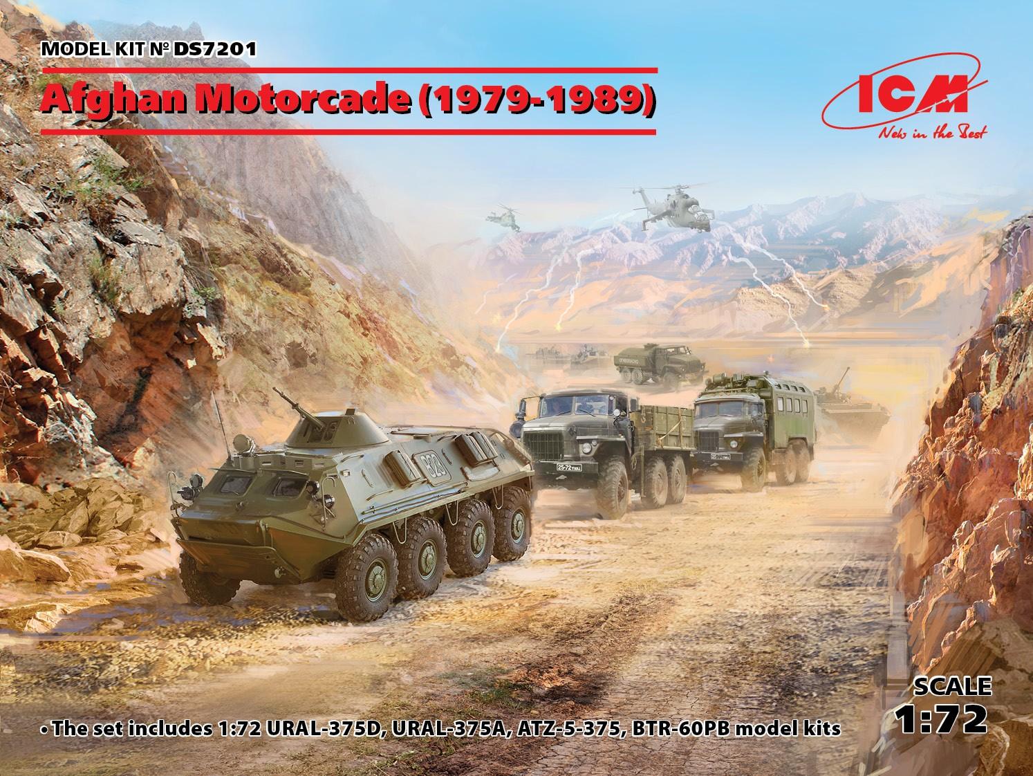 ICM Afghan Motorcade (1979-1989) (URAL-375D, URAL-375A, ATZ-5-375, BTR-60PB)
