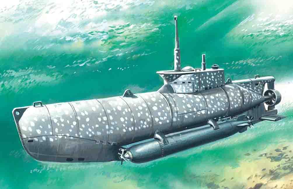 "ICM U-Boat Type XXVIIB ""Seehund"" (early), WWII German Midget Submarine"
