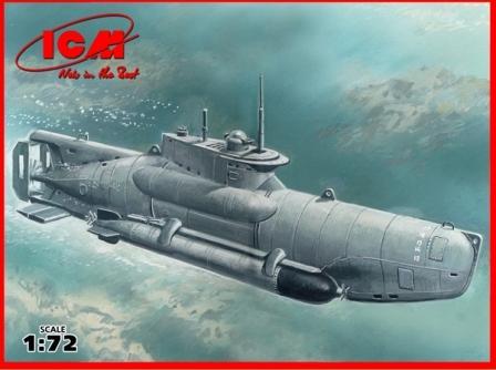"""ICM U-Boat Type XXVIIB """"Seehund"""" (late), WWII German Midget Submarine"""