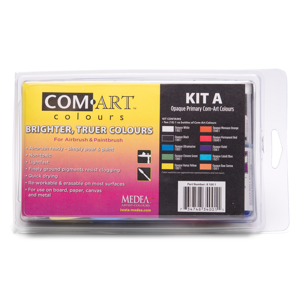IWATA Com Art Colours Opaque Primary Kit A