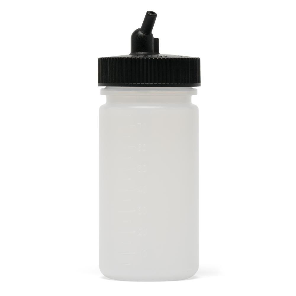 IWATA Big Mouth Airbrush Bottle 2.5 oz / 75 ml Cylinder With 38 mm Adaptor Cap
