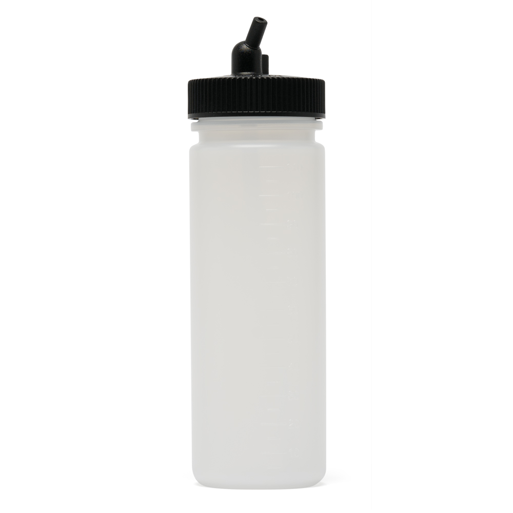 IWATA Big Mouth Airbrush Bottle 4 oz / 118 ml Cylinder With 38 mm Adaptor Cap