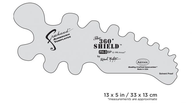 IWATA Artool #3 The 360 Shield Freehand Airbrush Template