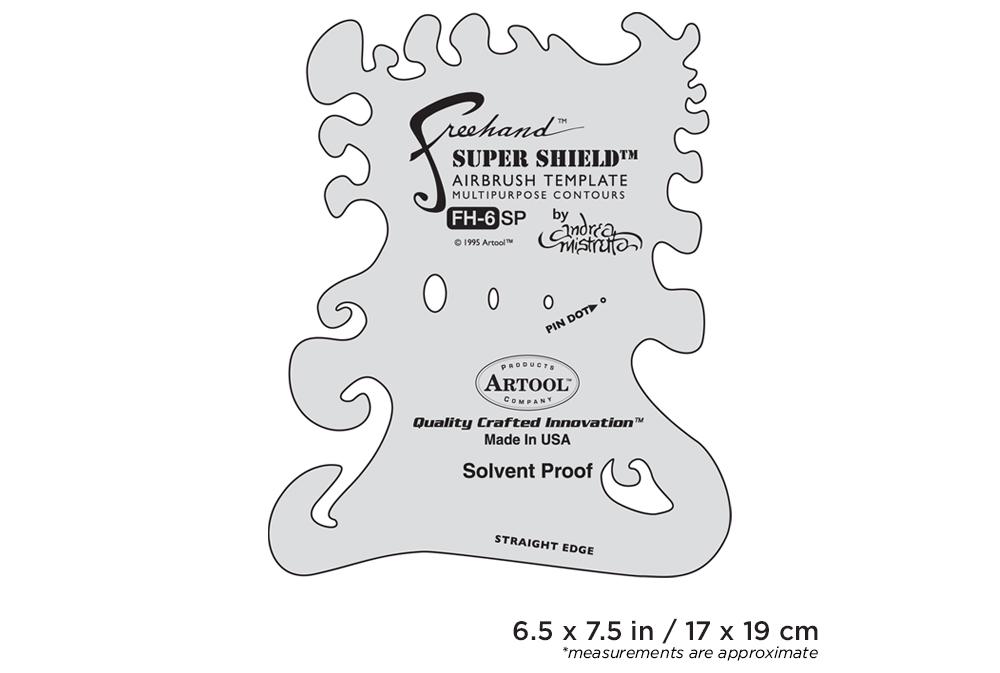 IWATA Artool #6 Super Shield Freehand Airbrush Template by Andrea Mistretta