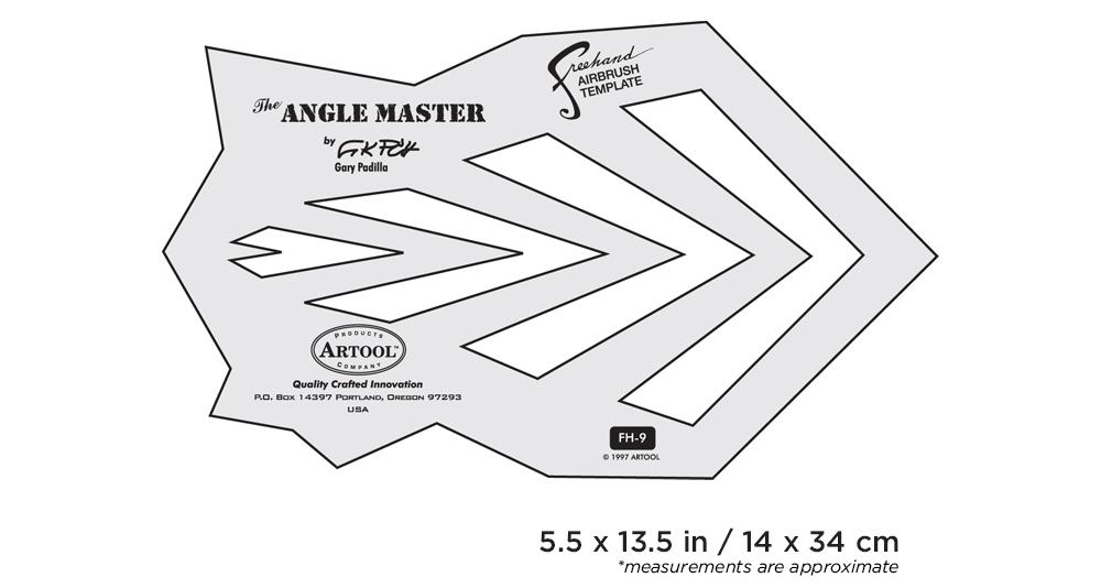 IWATA Artool #9 The Angle Master Freehand Airbrush Template by Gary Padilla