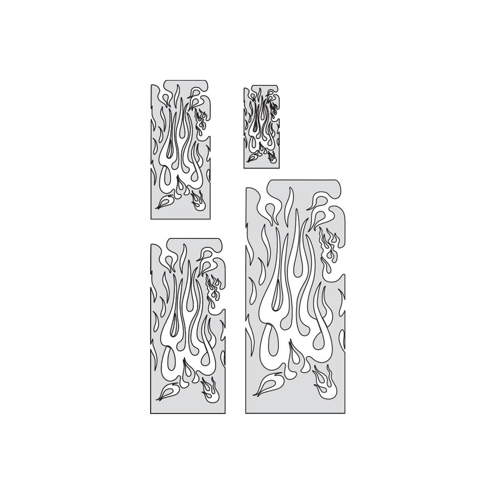 "IWATA Artool Flame Master The Multiple Freehand Airbrush Template by ""Mr. J"" Julian Braet"