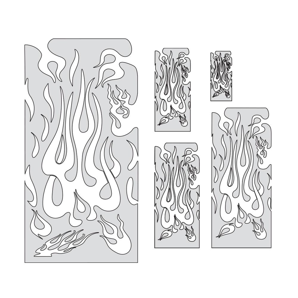 "IWATA Artool Flame Master Set Freehand Airbrush Template by ""Mr. J"" Julian Braet"
