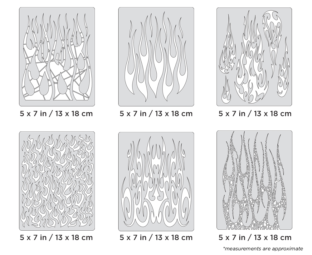 IWATA Artool Flame-o-rama 2 Mini Series Freehand Airbrush Template by Craig Fraser