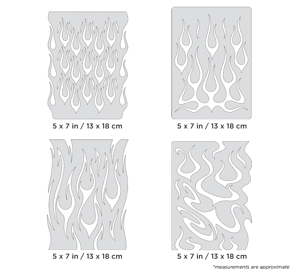 IWATA Artool Flame-o-rama Mini Series Freehand Airbrush Template by Craig Fraser
