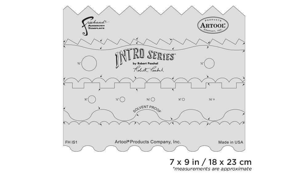 IWATA Artool Intro Series Freehand Airbrush Template by Robert Paschal