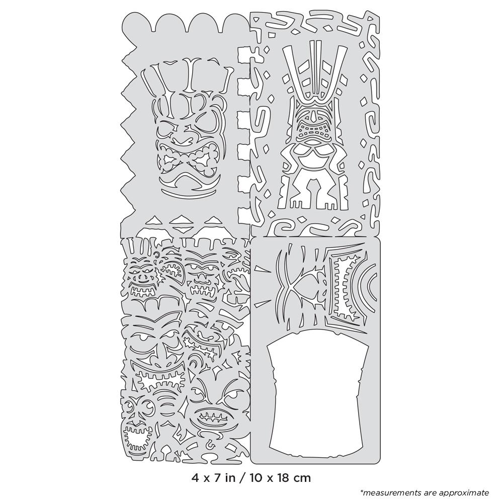 IWATA Artool Tikiville Nano Freehand Airbrush Template by Dennis Mathewson