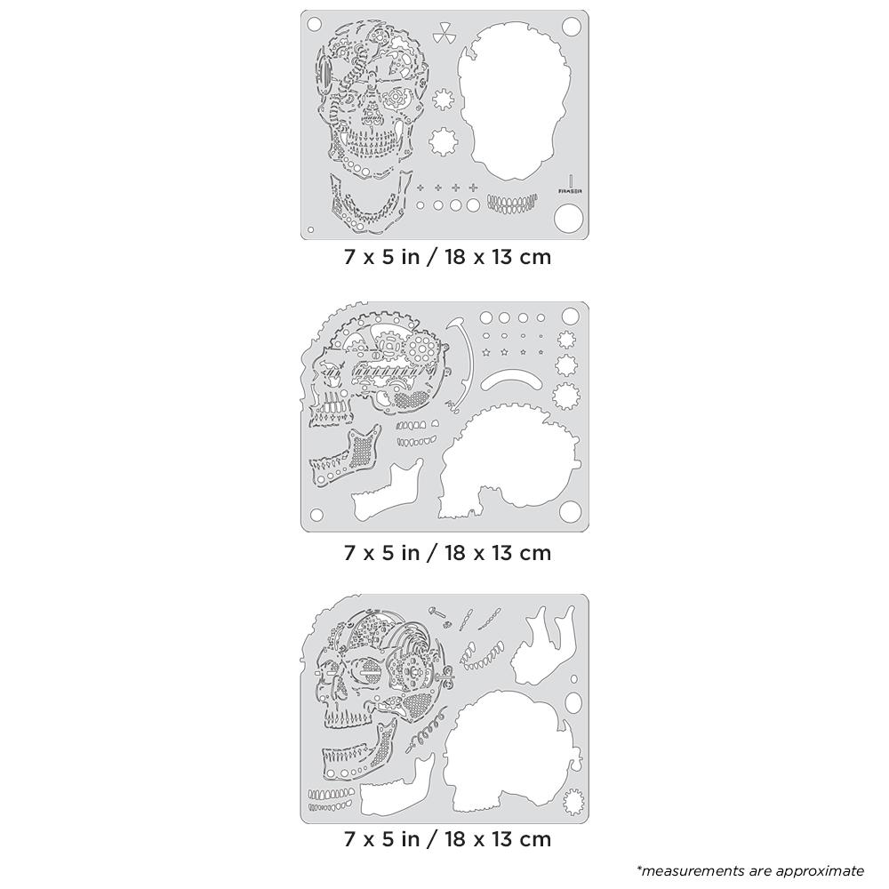 IWATA Artool Steam Driven Skullmaster Mini Series Set Freehand Airbrush Template by Craig Fraser