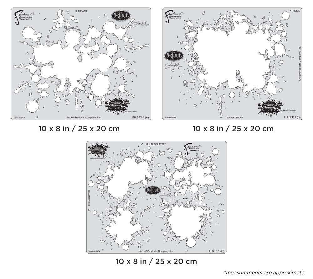 IWATA Artool Splatter FX Freehand Airbrush Template