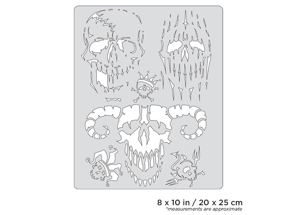 IWATA Artool Curse of Skullmaster Evil-Horde Freehand Airbrush Template by Craig Fraser