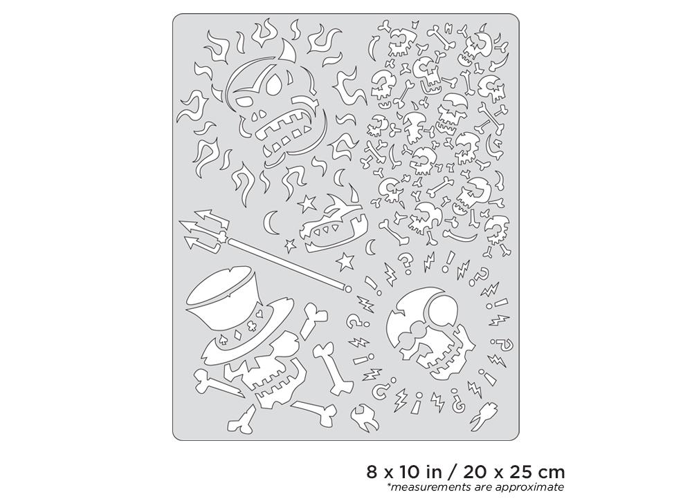 IWATA Artool Curse of Skullmaster Voo Doo Freehand Airbrush Template by Craig Fraser