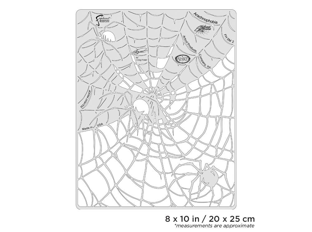 IWATA Artool Spider Master Arachnophobia Freehand Airbrush Template by Craig Fraser