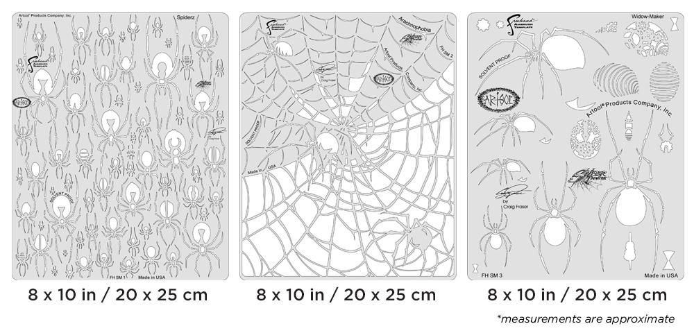 IWATA Artool Spider Master Set Freehand Airbrush Template by Craig Fraser