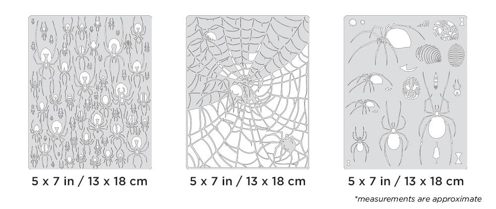 IWATA Artool Spider Master Mini Series Set Freehand Airbrush Template by Craig Fraser