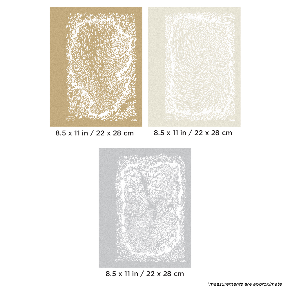 IWATA Artool Texture FX 3 Xtreme Freehand Airbrush Templates by Gerald Mendez