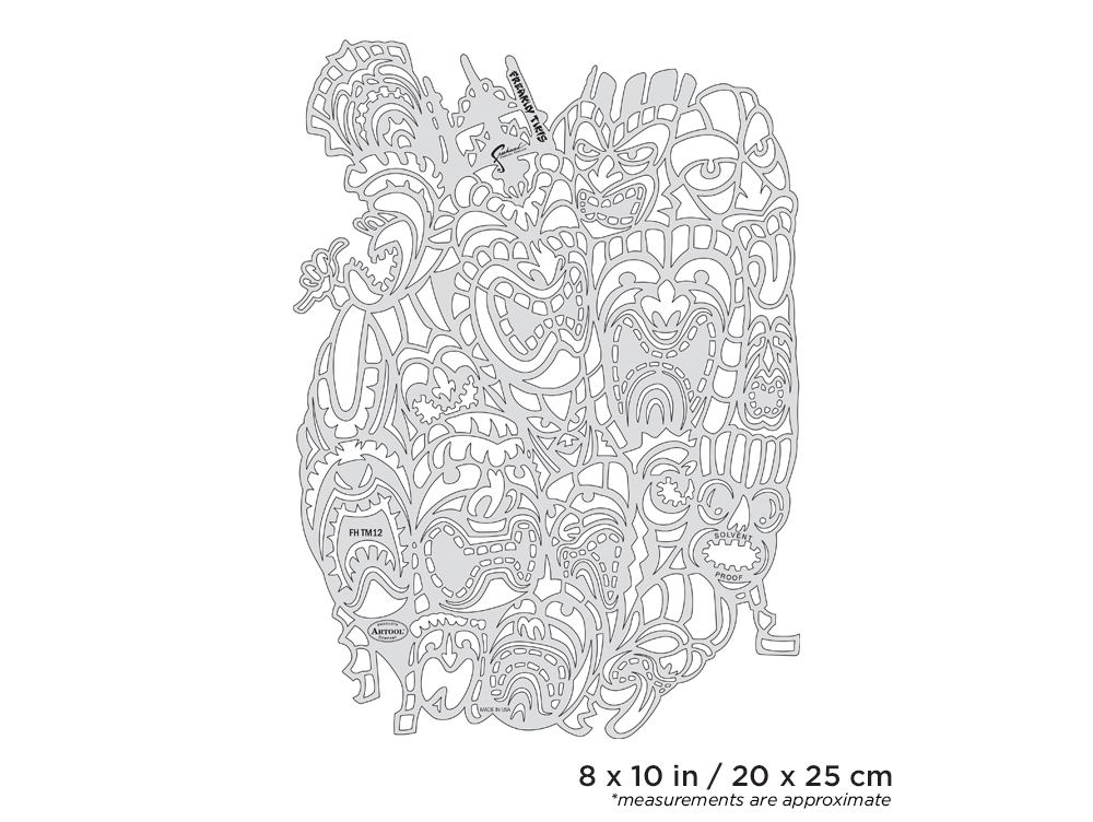 IWATA Artool Tiki Master II Freakin' Tikis Freehand Airbrush Template by Dennis Mathewson