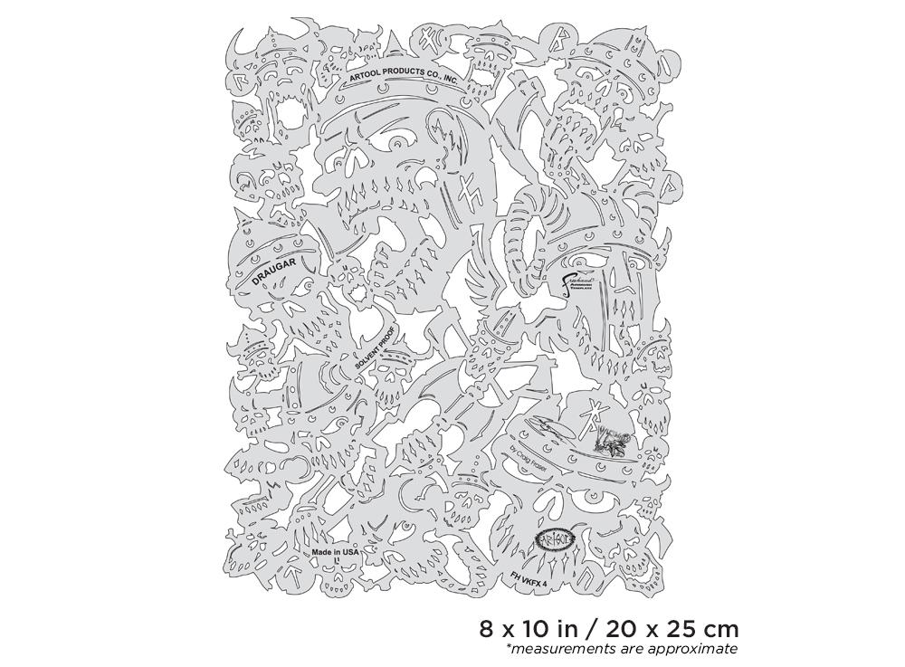 IWATA Artool Viking FX Draugar Freehand Airbrush Template by Craig Fraser