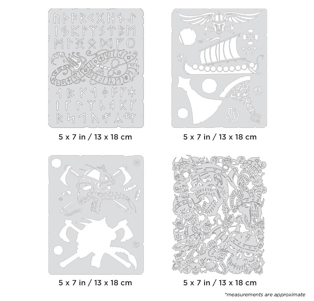 IWATA Artool Viking FX Mini Series Freehand Airbrush Template Set by Craig Fraser