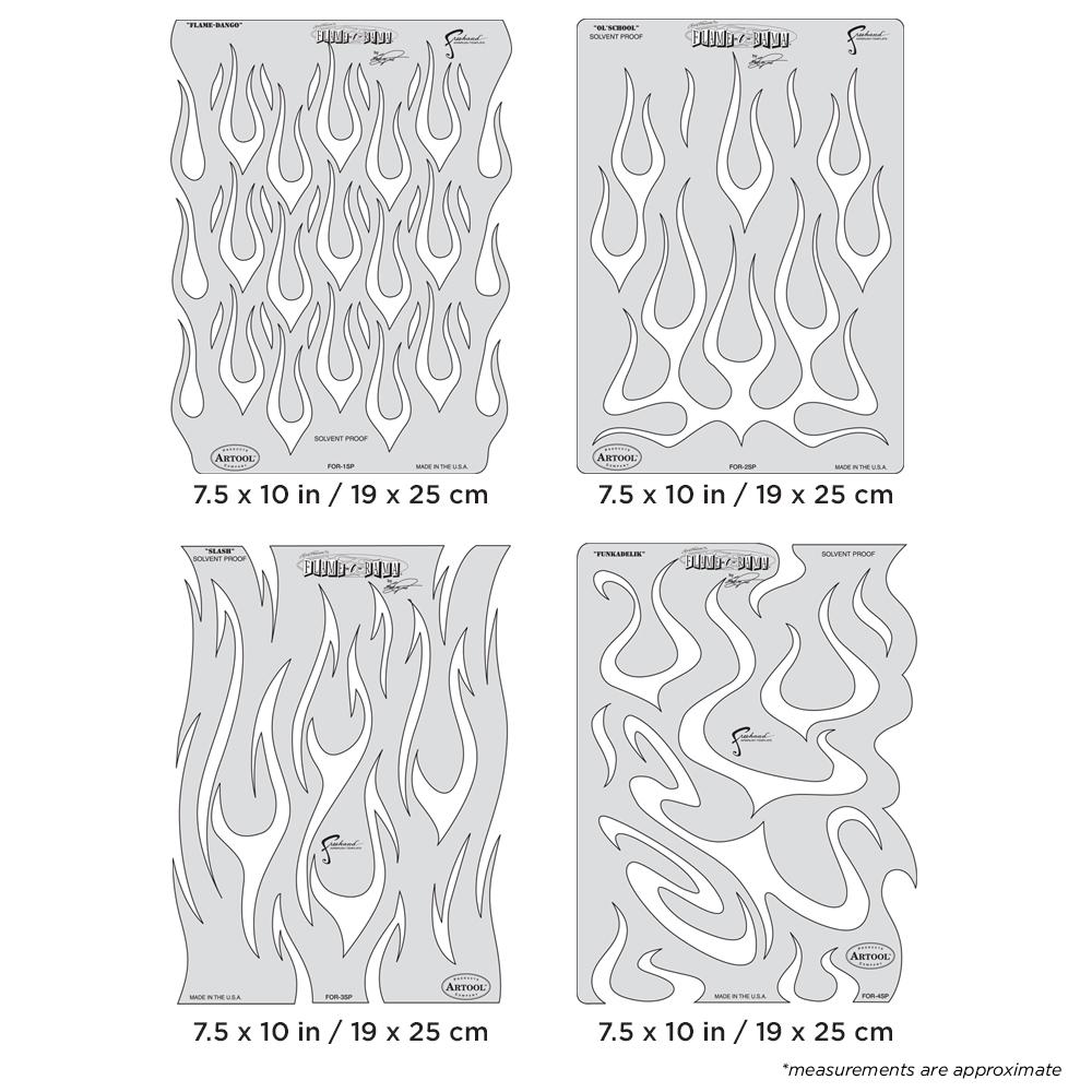 IWATA Artool Flame-O-Rama Freehand Airbrush Template Set by Craig Fraser