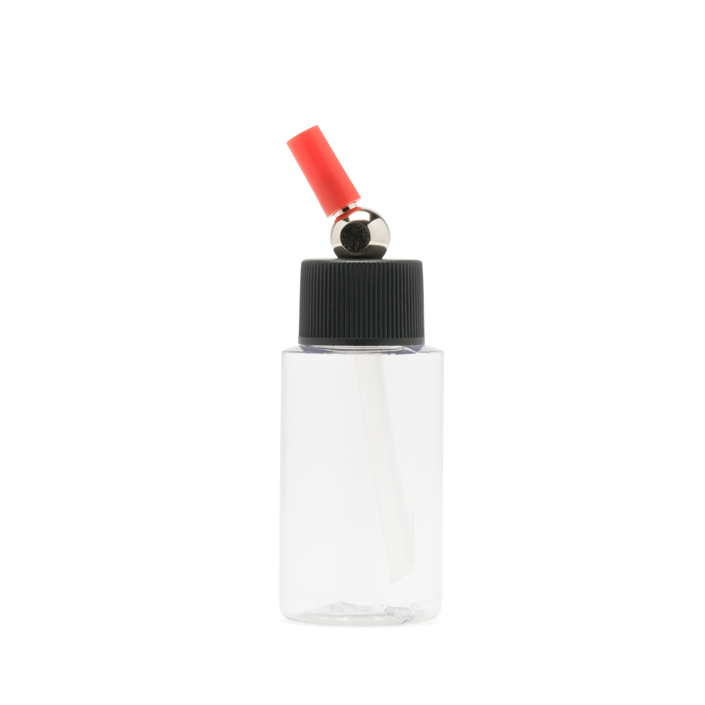 IWATA 1oz Crystal Clear Bottle 1oz / 30ml Cylinder with Adaptor Cap
