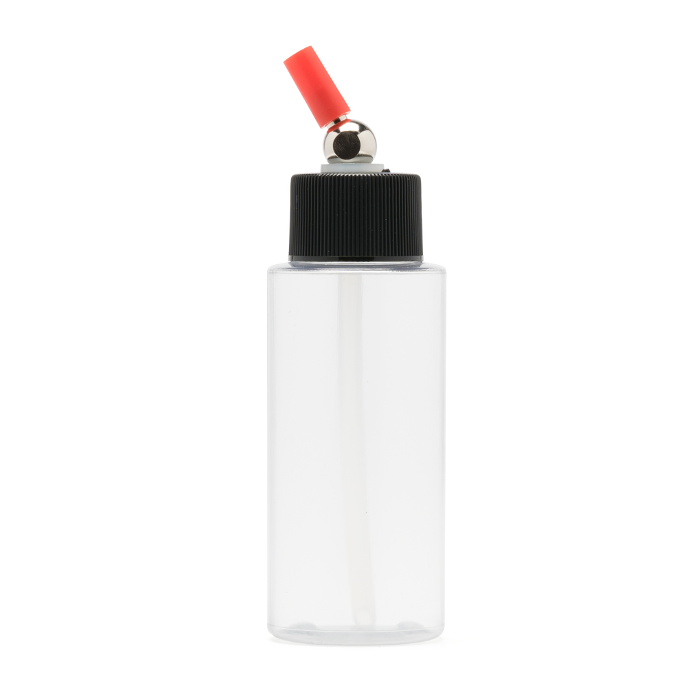 IWATA Crystal Clear Bottle 2 oz / 60 ml Cylinder With Adaptor Cap