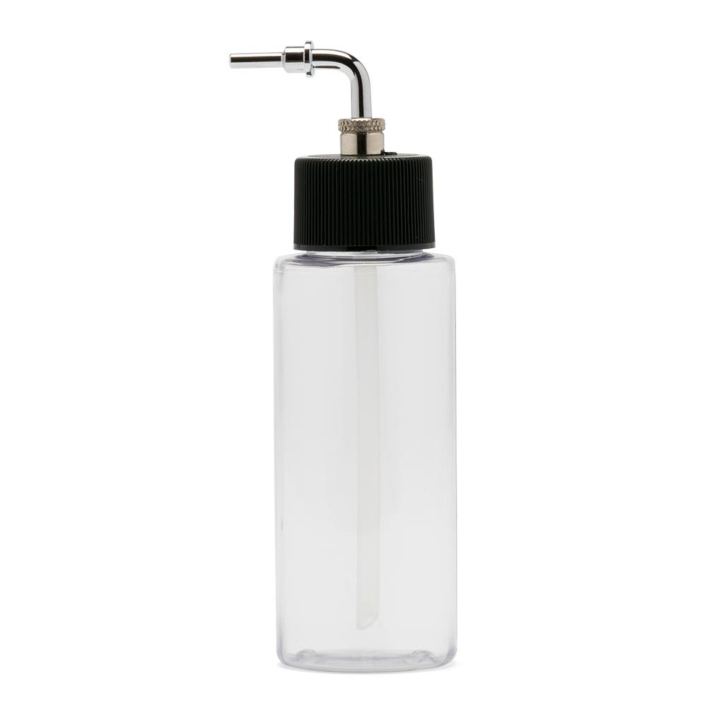 IWATA Crystal Clear Bottle 2 oz / 60 ml Cylinder With Side Feed Adaptor Cap
