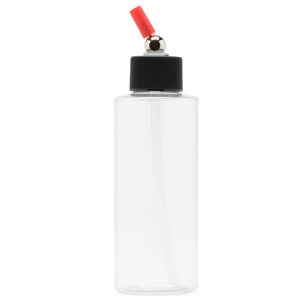 IWATA Crystal Clear Bottle 4 oz / 118 ml Cylinder With Adaptor Cap