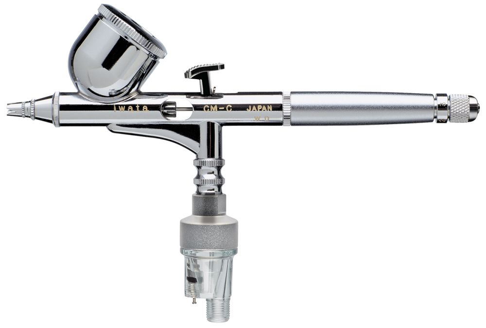 IWATA Custom Micron CM-C Gravity Feed Dual Action Airbrush