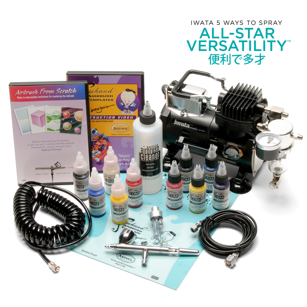 IWATA Deluxe Airbrush Kit with Eclipse HP-CS