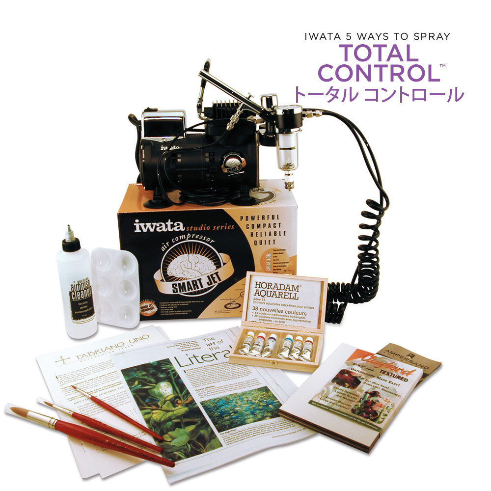 IWATA Watercolor Airbrush Kit with High Performance HP-C Plus
