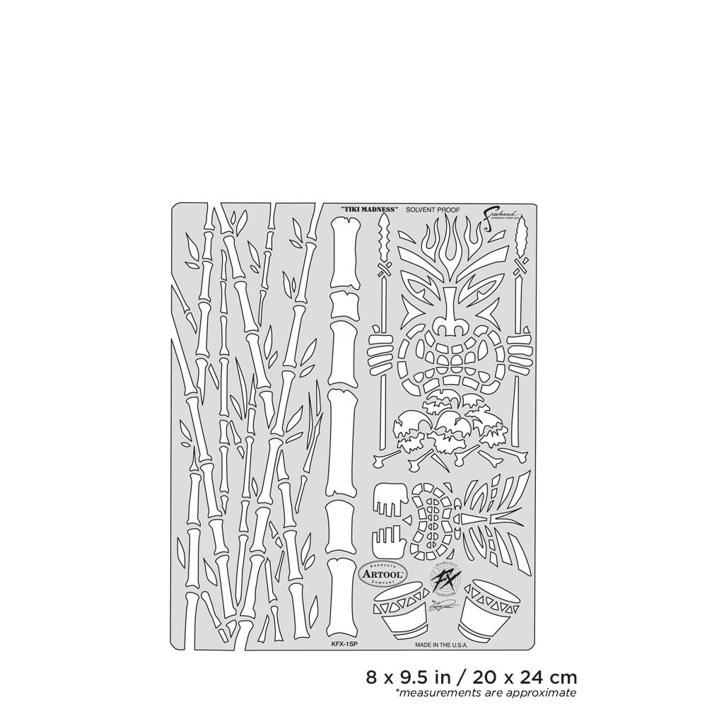 IWATA Artool Kustom FX Tiki-Madness Freehand Airbrush Template by Craig Fraser