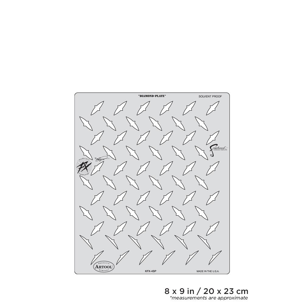 IWATA Artool Kustom FX Diamond-Plate Freehand Airbrush Template by Craig Fraser