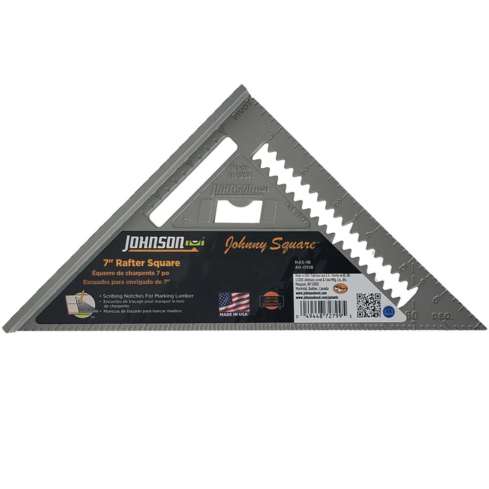 "Johnson 7"" Aluminum Rafter Angle Square"