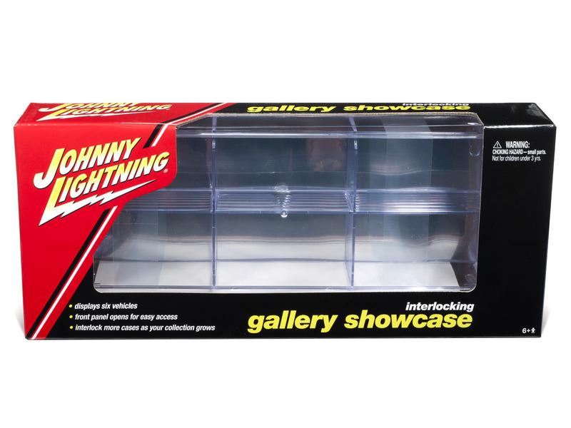 Johnny Lightning 6 Car interlocking display case