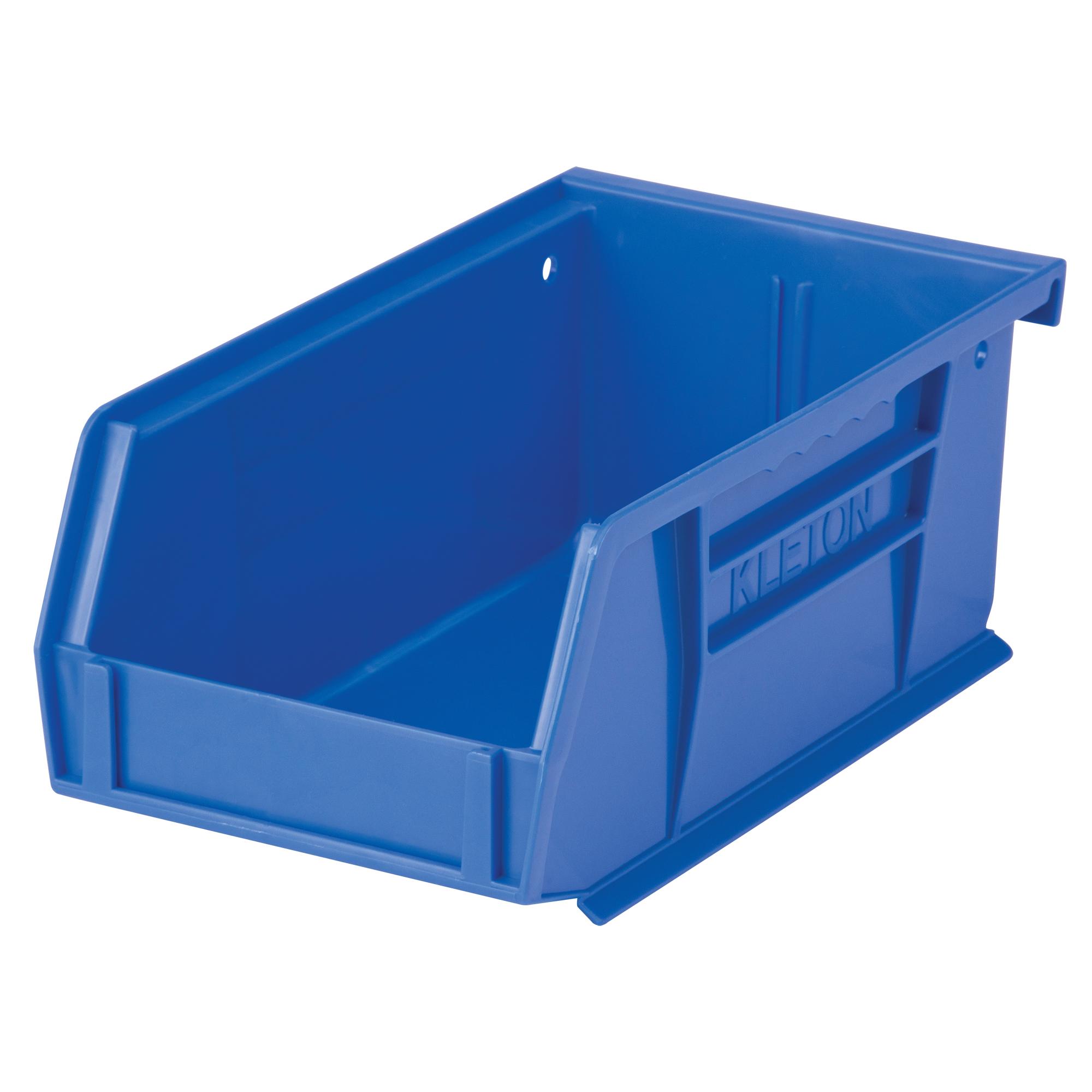 """Kleton Stack & Hang Bin, 4-1/8"""" W x 3"""" H x 7-3/8"""" D, Blue"""