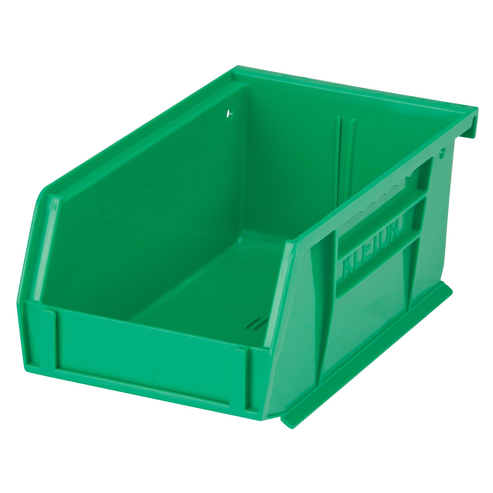 """Kleton Stack & Hang Bin, 4-1/8"""" W x 3"""" H x 7-3/8"""" D, Green"""