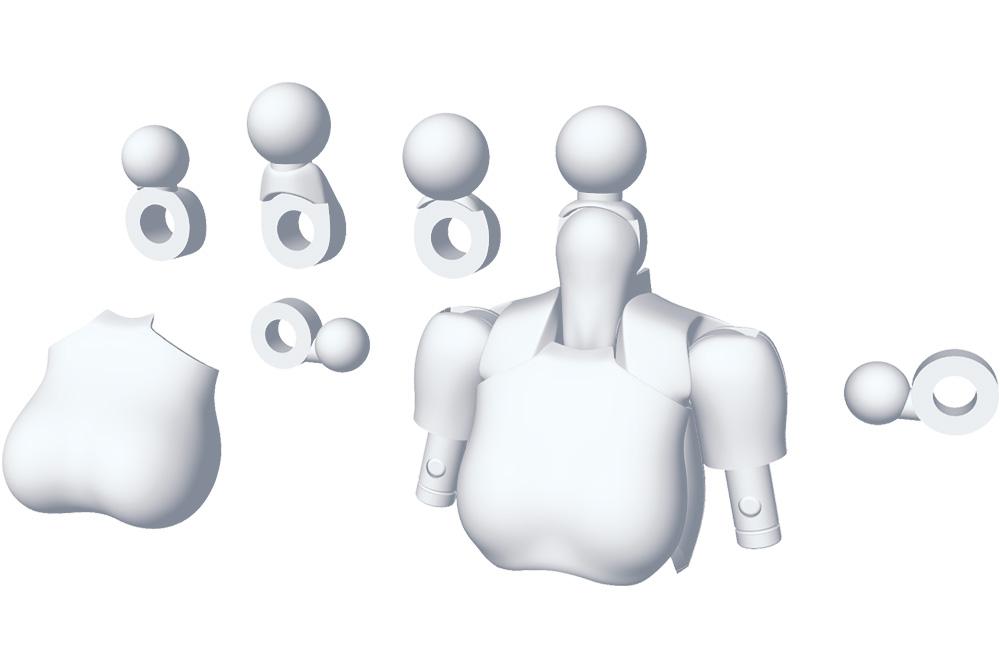 Kotobukiya MSG Megami Device 01 Tops Set White