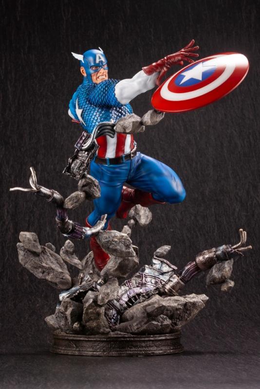 Kotobukiya 1/6 Captain America Avengers Fine Art Statue, Marvel Universe Series