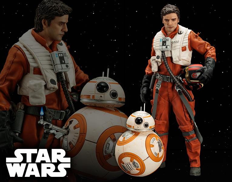 Kotobukiya 1/10 ARTFX+ Star Wars Poe Dameron & BB-8 Set of 2 Figures