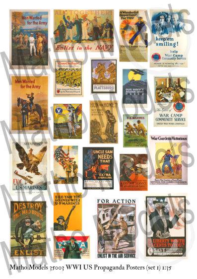 Matho 1/35 WWI US Propaganda Posters (set 1)